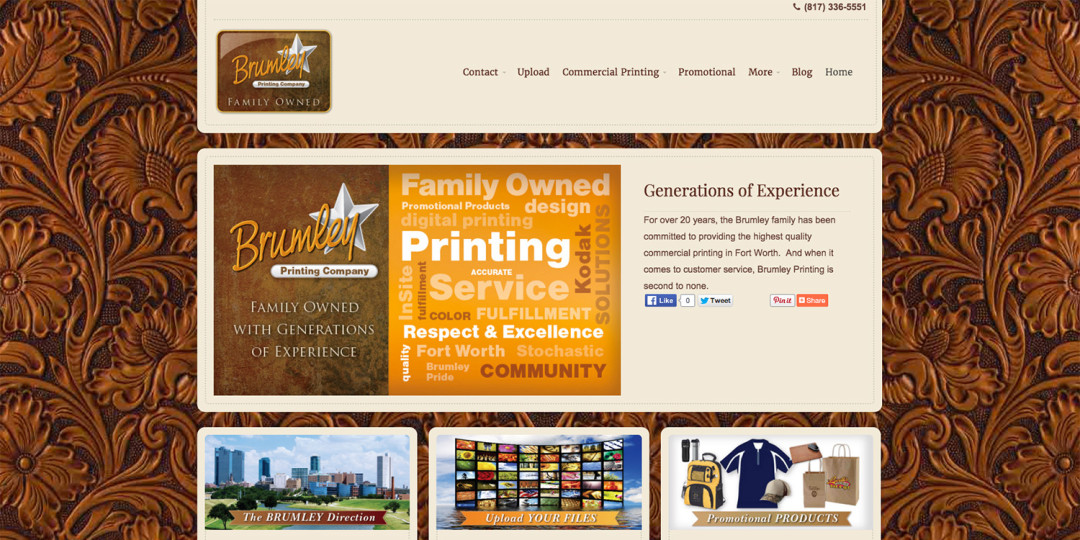 Brumley Printing website