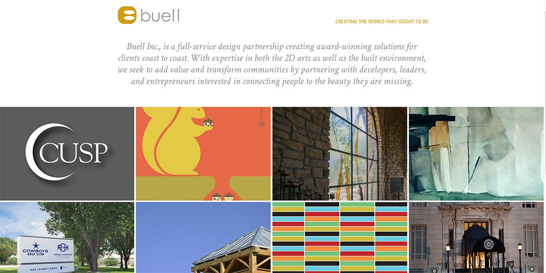 Buell Design website image