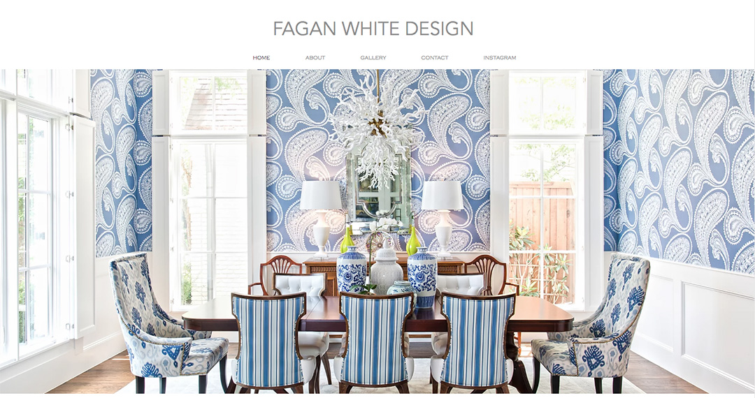 Fagan White Design website