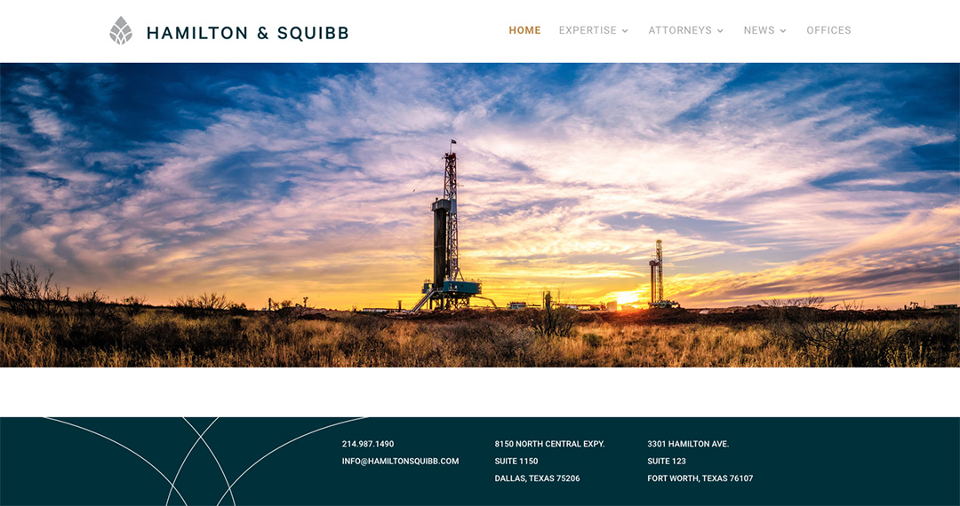 Hamilton & Squibb website by TidalBrain
