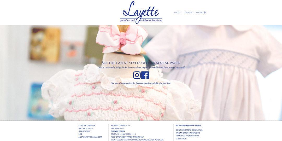 Layette Dallas website image