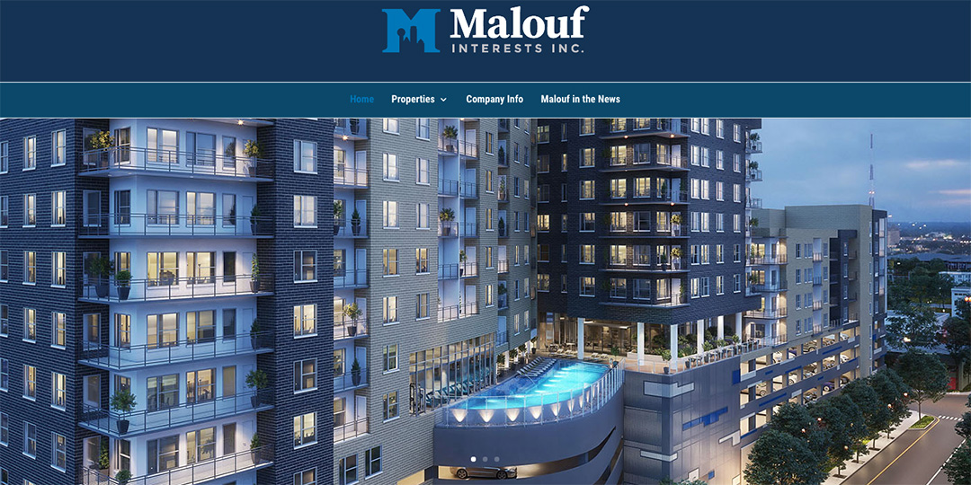 Malouf Interests website image