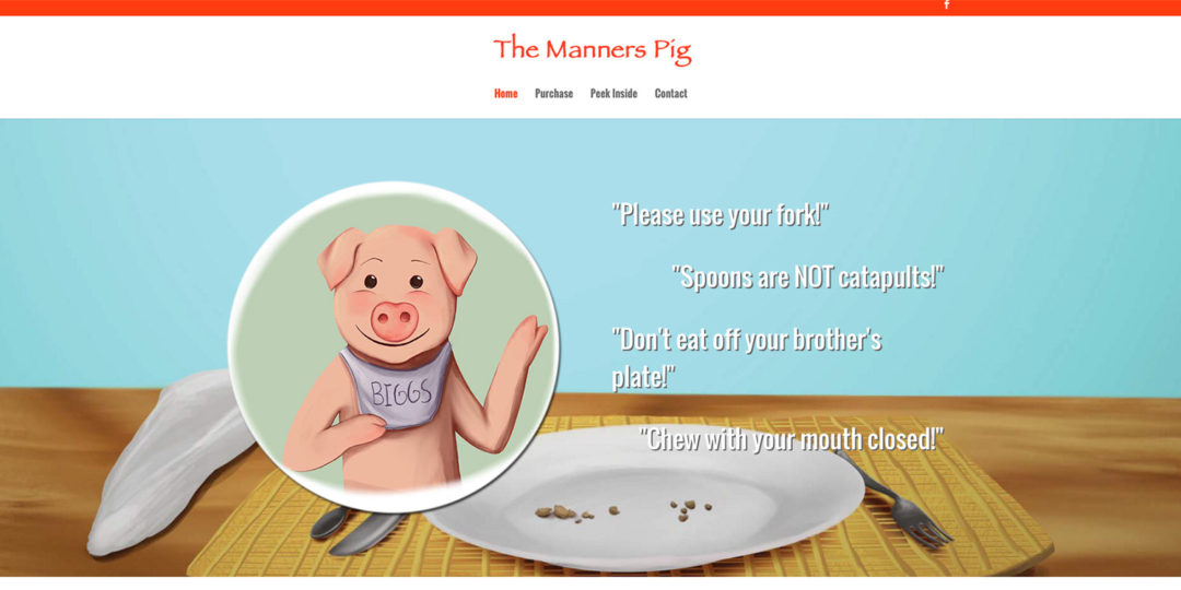The Manners Pig children's book