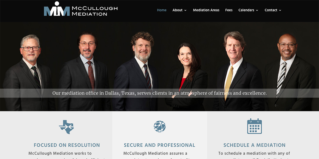 McCullough Mediation website image