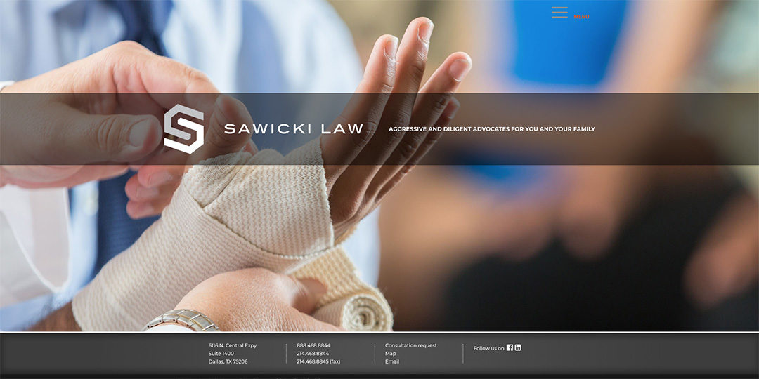 Sawicki Law Firm web image