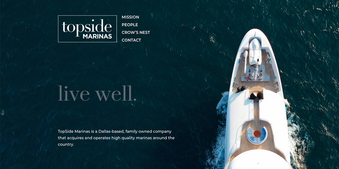 Topside Marinas website by TIdalBrain