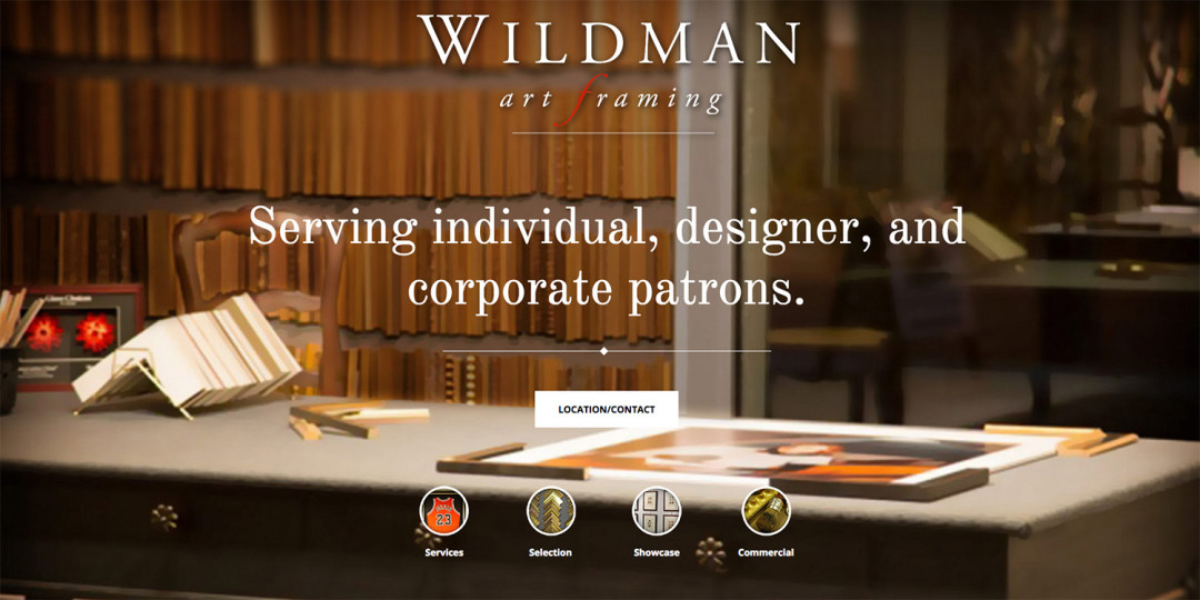 Wildman Art Framing website